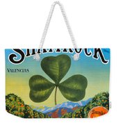 Shamrock Crate Label Weekender Tote Bag