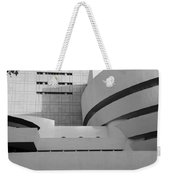 Shapes Of The Guggenheim In Black And White Weekender Tote Bag
