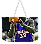 Shaquille O'neal Weekender Tote Bag by Florian Rodarte