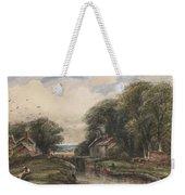 Shardlow Lock With The Lock Keepers Cottage Weekender Tote Bag