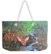 Sharing The Pond Weekender Tote Bag