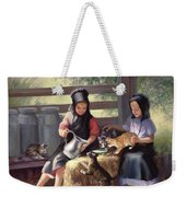 Sharing With A Friend Weekender Tote Bag