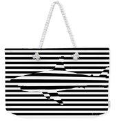 Shark Optical Illusion Weekender Tote Bag by Pixel Chimp