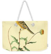 Sharp-tailed Bunting Weekender Tote Bag by Philip Ralley