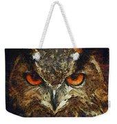 Sharpie Owl Weekender Tote Bag by Ayse Deniz