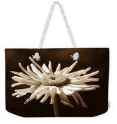 Shasta Daisy Flower Sepia Weekender Tote Bag