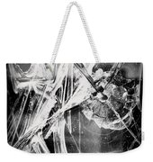Shatter - Black And White Weekender Tote Bag