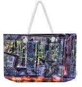Shattere Side School Bus Window Weekender Tote Bag