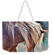She Tossed Her Mane - Wild Pony Of Assateague Weekender Tote Bag