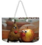 She Was The Apple Of His Eye Weekender Tote Bag