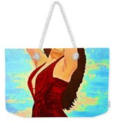 Woman In A Red Dress 1 Weekender Tote Bag
