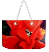 She Wore Red Ruffles Weekender Tote Bag