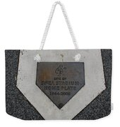 Shea Stadium Home Plate Weekender Tote Bag by Rob Hans
