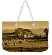 Sheep And Barn Weekender Tote Bag