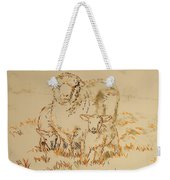 Sheep And Lambs Weekender Tote Bag