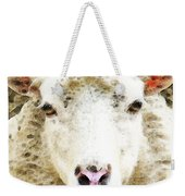Sheep Art - White Sheep Weekender Tote Bag
