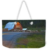 Sheep Crossing Weekender Tote Bag
