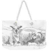 Sheep Drawing Weekender Tote Bag