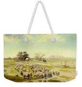 Sheepherding Montana Weekender Tote Bag