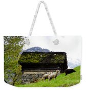 Sheeps And Rustic House Weekender Tote Bag