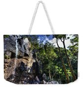 Sheer Cliff With Waterfall Weekender Tote Bag