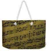 Sheet Music Weekender Tote Bag