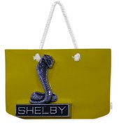 Shelby Gt350 Emblem On Yellow Weekender Tote Bag