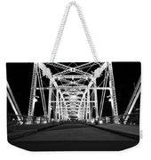 Shelby Street Bridge At Night In Nashville Weekender Tote Bag