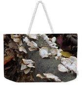 Shelf Mushrooms In Autumn Weekender Tote Bag