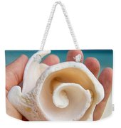 Shell In Hand Cozumel Weekender Tote Bag