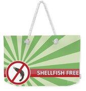 Shellfish Free Banner Weekender Tote Bag