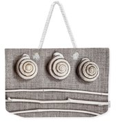 Shells And Sticks Weekender Tote Bag by Carol Leigh