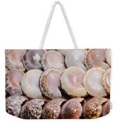 Shells In A Row Weekender Tote Bag