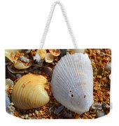Shells On Sand2 Weekender Tote Bag by Riad Belhimer