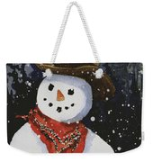 Shelly's Snowman Weekender Tote Bag