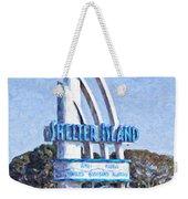 Shelter Island Sign San Diego California Usa Weekender Tote Bag
