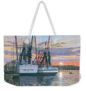 Shem Creek Shrimpers Charleston  Weekender Tote Bag by Richard Harpum