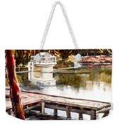 Shepherd Mountain Lake Bright Weekender Tote Bag by Kip DeVore