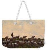 Shepherd With Sheep Standard Size Weekender Tote Bag