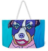 She's A Pit Bull That Wears Lipstick Weekender Tote Bag
