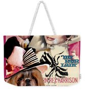 Shih Tzu Art - My Fair Lady Movie Poster Weekender Tote Bag