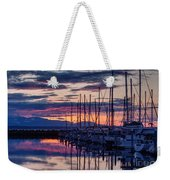 Shilshole Olympic Mountains Sunset Weekender Tote Bag