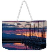 Shilshole Olympic Mountains Sunset Vertical Weekender Tote Bag