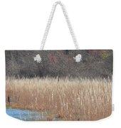 Shimmering Gold Grasslands Weekender Tote Bag