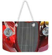 Shiny Red Weekender Tote Bag