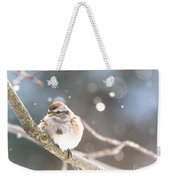 Shiny Tree Sparrow Weekender Tote Bag