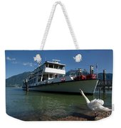 Ship And Swan Weekender Tote Bag