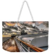 Ship Deck Weekender Tote Bag