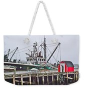 Ship Docked In Lunenburg-ns Weekender Tote Bag