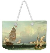 Ship Going Out, Fort Independence Weekender Tote Bag